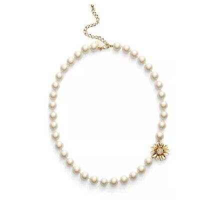 Kate Spade NY Mom Knows Best Dazzling Daisies Faux Pearl Collar Necklace