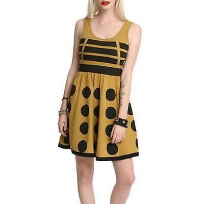 DOCTOR WHO DALEK DRESS gold/yellow exterminate knit tank casual cosplay dr M 3F - Dalek Dress