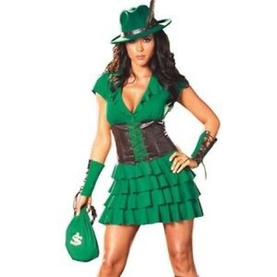 Sexy Robin Hood Halloween/Cosplay Costume - Size Large (Dress and - Robin Costume Accessories
