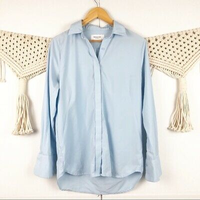Ministry Of Supply light blue button down top Size XS Long sleeve collared