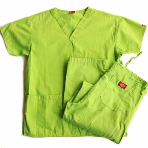 Dickies Lime Green Scrubs Womans Size XS