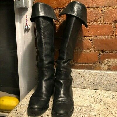 Alessandro Nerini Leather Boots Over The Knee Womens Size 38 (Us 7.5)