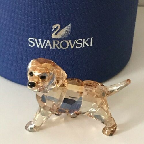 Swarovski Golden Retriever Standing Puppy Dog Figurine NIB  RARE