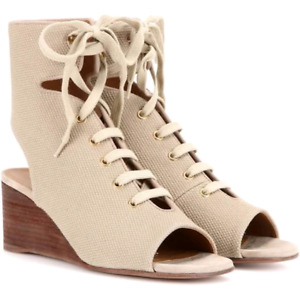 chloe lace up sandals, bnwt