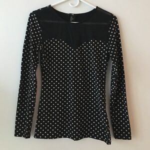 Polka Dot Mesh Top H&M West Island Greater Montréal image 1