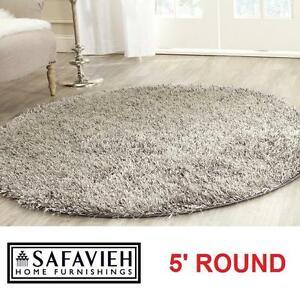 NEW SAFAVIEH 5' ROUND SHAG RUG NEW ORLEANS SHAGS AREA RUGS CARPET CARPETS FLOORING DECOR ACCENTS MAT MATS 102311781