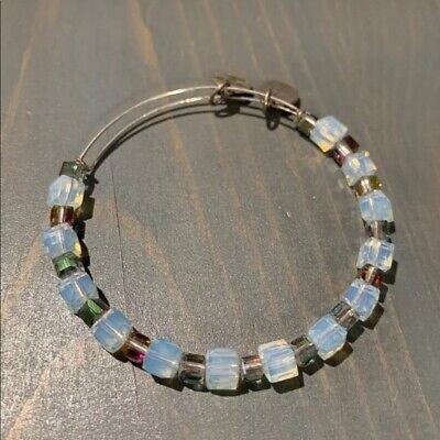 Alex & Ani Iridescent Clear Swarovski Crystal Beaded Bangle Bracelet