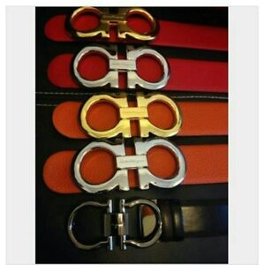 Leather brand belts