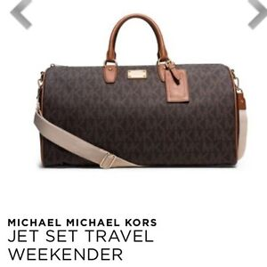 Michael Kors Jet Set Large Weekender Bag AND Coach Clutch