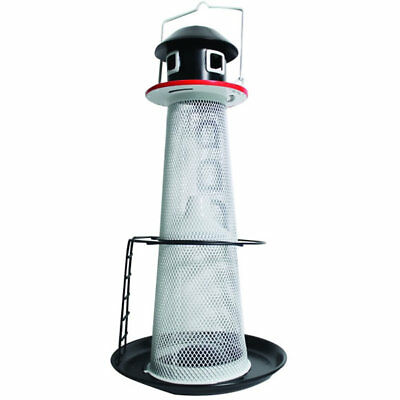 No/No Solar Lighthouse Finch Bird Feeder Lights Up At Night 1.5 Lb Seed Capacity