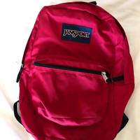 Lost red backpack in NDG