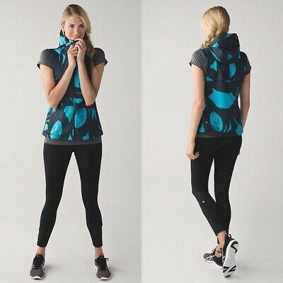 Lululemon 4 Pack-It Lightweight Vest Back Spin Stroke Peacock Blue/Black