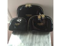 CHANEL SET COSMETIC BAGS