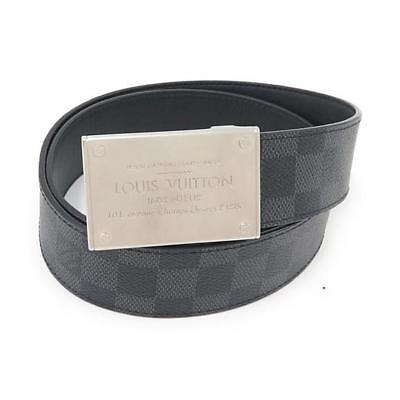 Ремень Authentic LOUIS VUITTON Damier graphite