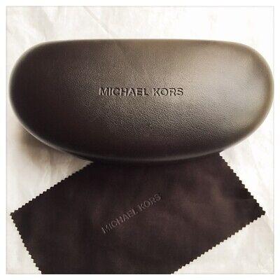 Michael Kors Sunglass ~ Eyeglass Hard XL Clamshell Case Dark Brown Chocolate (Michael Kors Sunglass Case)