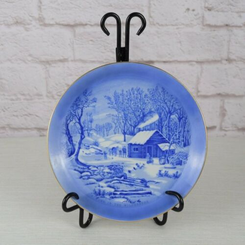 """Currier & Ives Home In The Wilderness Plate Japan Decorative Plate 8"""""""