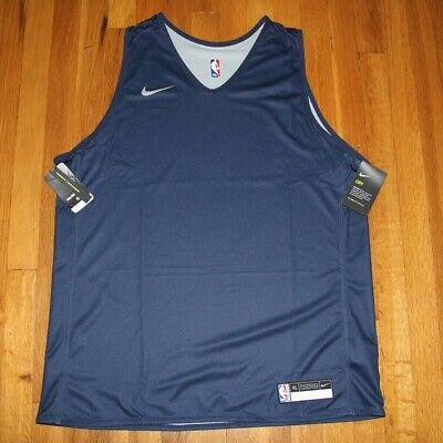 NEW Nike NBA Training Practice Jersey XL 933573-419 Navy Gray Reversible Tank