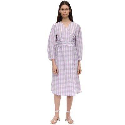 BAUM UND PFERDGARTEN Abylene Check Seersucker Wrap Dress Women 40 US 10