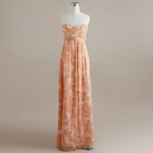 J Crew Formal Peach Maxi Dress