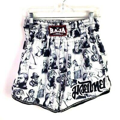 "Raja Boxing Shorts Muay Thai Rapper XL (Waist 28-32"") White  *T"