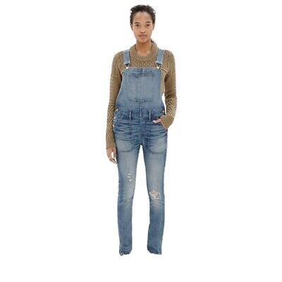 Vintage Overalls & Jumpsuits Madewell Size S-M Skinny Denim Overalls Adrian Wash $40.00 AT vintagedancer.com
