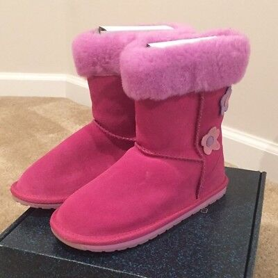 New in box Girls Hot Pink EMU Boots Sz - Hot Girl In Boots