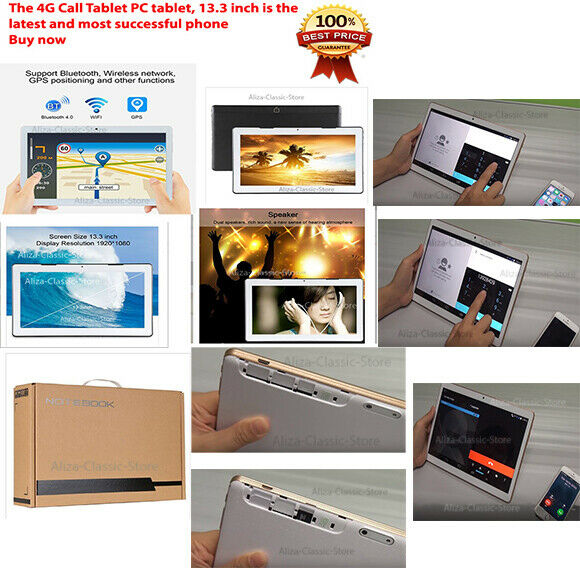 Details about Tablet 4G Call PC Phone Android 7 0 Quad Core A53 64 13 3  inch, 2GB+32GB,Wifi