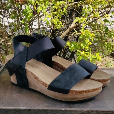 Womens Low Wedge Sandals Spring Shoes Heels (Black Womens Shoes Wedge)