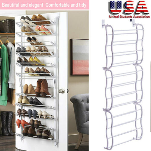 Beau Details About 36 Pairs Over The Door Shoe Rack Wall Hanging 12 Layers  Closet Organizer Storage