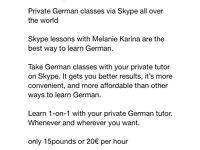 German lessons via S K Y P E