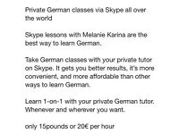 German lessons via S K Y P E