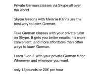 German classes via S K Y P E
