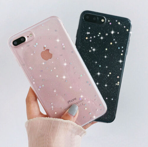 Luxury Bling Glitter Slim Soft Silicone Phone Case Cover For iPhone 7+ 6s 8 5 Xs