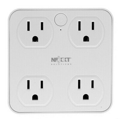 Nexxt Solutions Smart Wi-Fi Surge Protector with USB Charging Port - 4 Plug