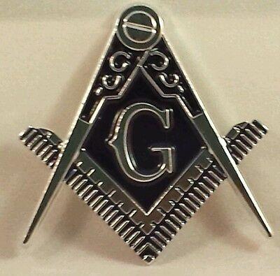 Masonic cut-out car emblem in silver & Blue
