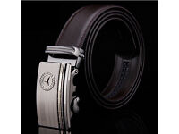 Mercedes-Benz belt Men's fashion black & brown 120 cm New