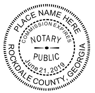 State Of Georgia Custom Round Self-inking Notary Public Stamp Ideal 400r