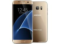 Samsung S7 Edge unlocked gold ammaculate