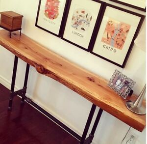 25% Off Sale - Live edge console hallway sofa tables