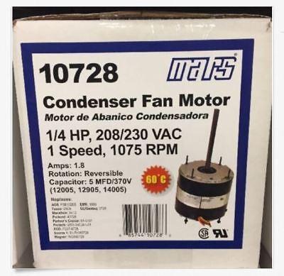 Mars 14hp 208-230v 1075rpm Condenser Motor 10728