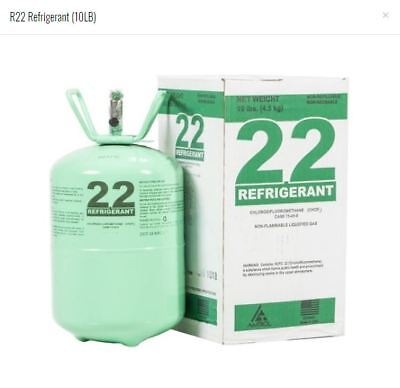 R22 Refrigerant 10lb Cylinder, Factory Sealed (Made in USA)