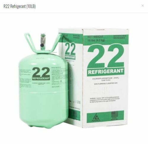 R22 R-22 R 22 Refrigerant 10lb Cylinder (Made in USA) Sealed HVAC
