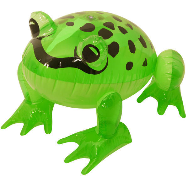 Inflatable Frog - 39cm - Blow Up Toy Loot/Party Bag Fancy Dress Green