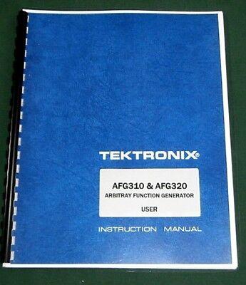 Tektronix Afg310 Afg320 User Manual Comb Bound Protective Covers