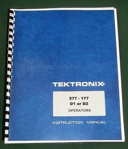 Tektronix 577-177 D1 or D2 Instruction Manual: Comb Bound & Protective Covers