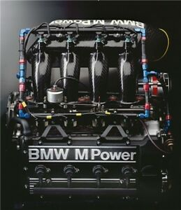 BMW M Power M3 E30 Motorsport Engine Large Poster 28x24