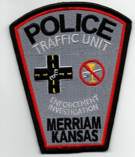 KANSAS KS MERRIAM POLICE TRAFFIC NICE PATCH SHERIFF