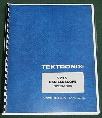 Tektronix 2215 Operators Manualcomb Bound Protective Plastic Covers
