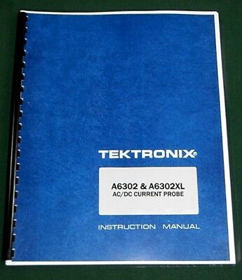 Tektronix A6302 A6302xl Instruction Manual Comb Bound Protective Covers