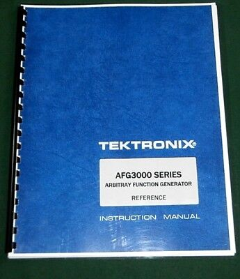 Tektronix Afg3000 Series Reference Manual Comb Bound Protective Covers